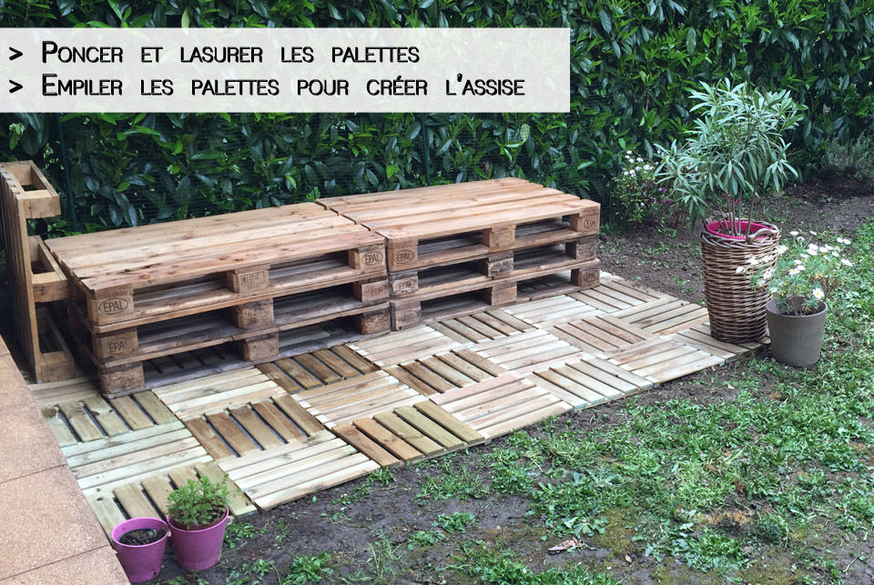 diy d co salon de jardin en palettes rapide facile iletaituneveggie. Black Bedroom Furniture Sets. Home Design Ideas