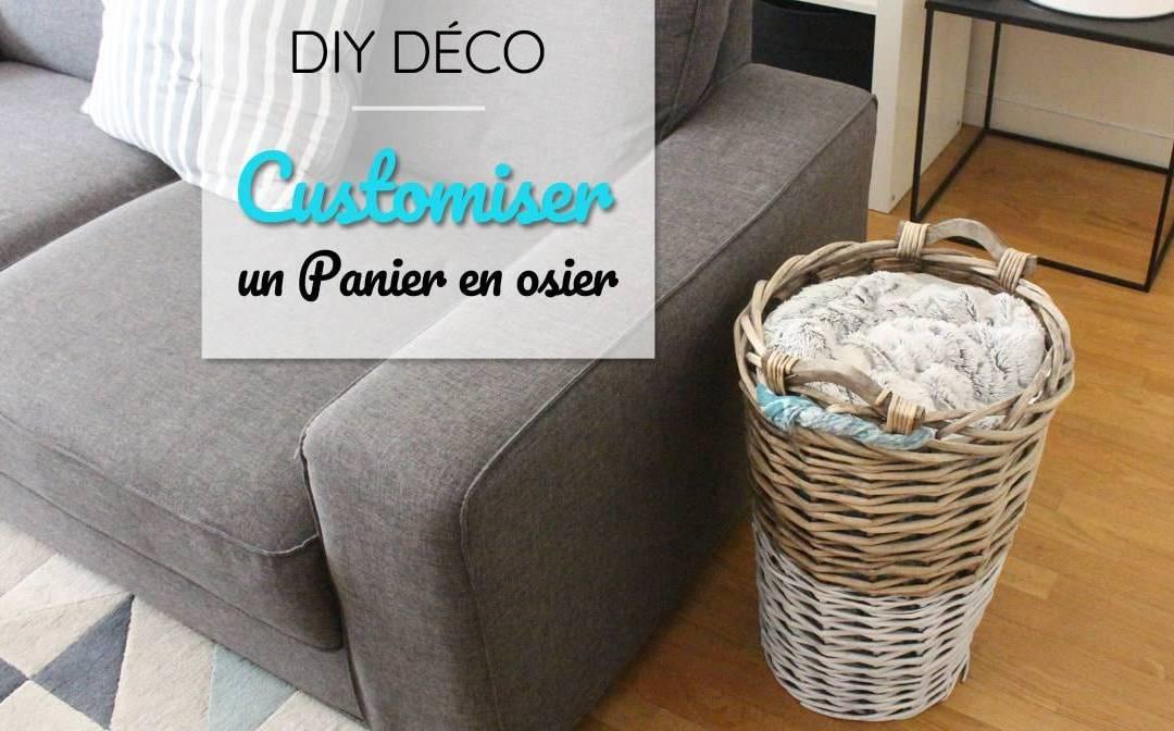 DIY déco : Customiser un panier en osier