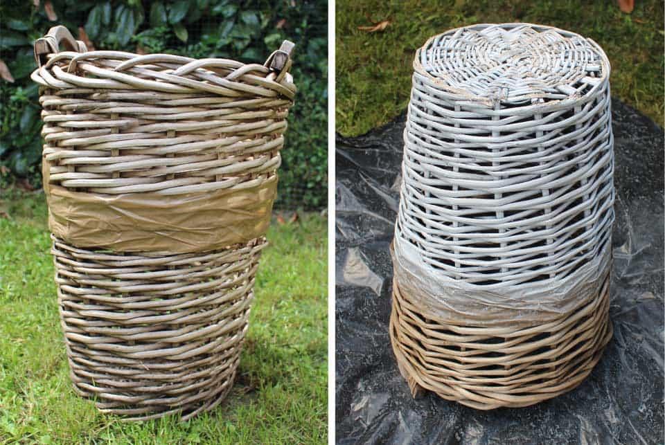 diy déco : customiser un panier en osier - il etait une veggie