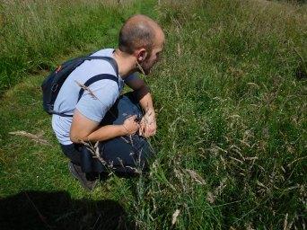 Jon looking at grass