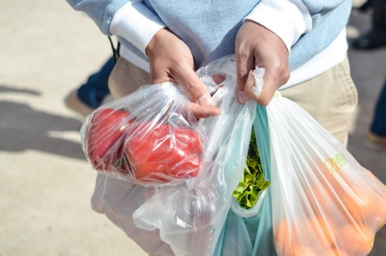 supermarket shopping bio plastic bags