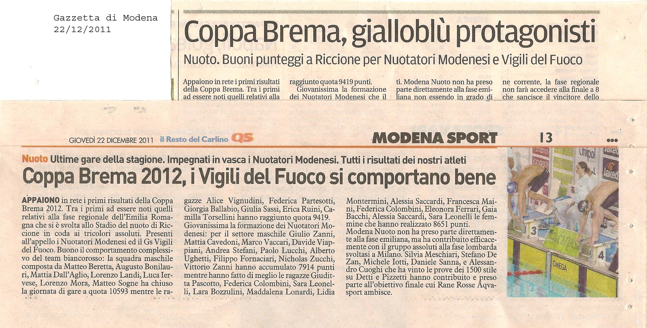 17  dicembre  2011  VAPORI DI CLORO