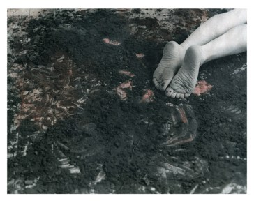 Black and white silver gelatin hand coloured print form the series Wallflower by Corrine Perry