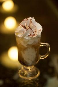 Affogato alla crema – (espresso, crema gelato, and whipped cream)