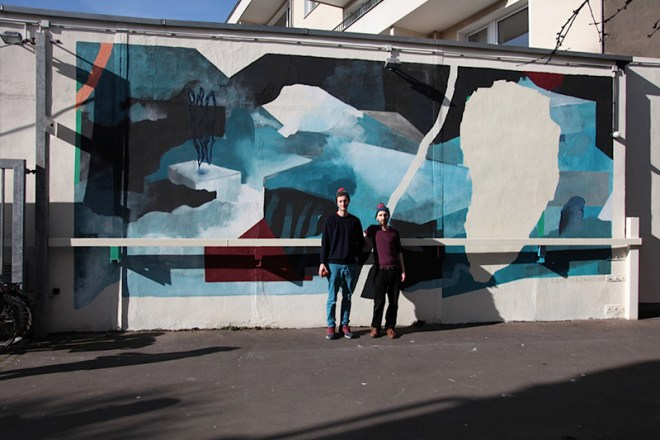 Elias Errerd and Johannes Mundinger had been invited by #illu16 Cologne, to paint this wall of the Kunsträume der Michael Hornbach Stiftung. Photo by @paula990119