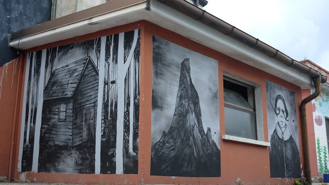 James Kalinda Street Art Belluno Clorofilla