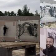 Ο street artrist Σωτήρης Γκαρδιακός, έπειτα από πρόσκληση του Δήμου Αρχαίας Ολυμπίας και την υποστήριξη της Εφ.Α. Ηλείας δημιούργησε γκράφιτι σε τοίχο του Δημαρχείου (κτίριο Ξενία) με το οποίο εικονογραφεί τη σχέση του παρόντος με το παρελθόν της πόλης.