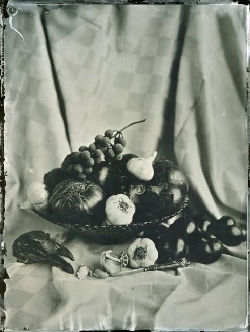 Fruit&Vegetable Bowl Ambrotype / 18x24cm / framed