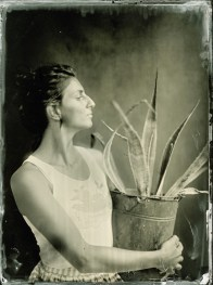 Girl in love with the sea, Ambrotype, 18x24cm/framed