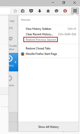 firefox restore previous session, restore previous session firefox shortcut