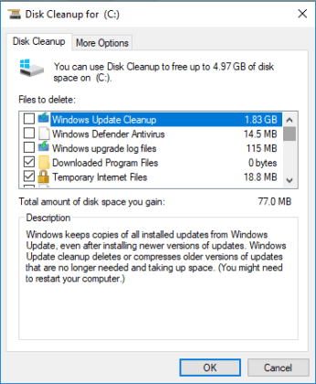 Windows 10 update cleanup