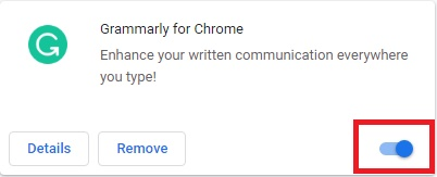 remove chrome plugins,remove grammarly extension
