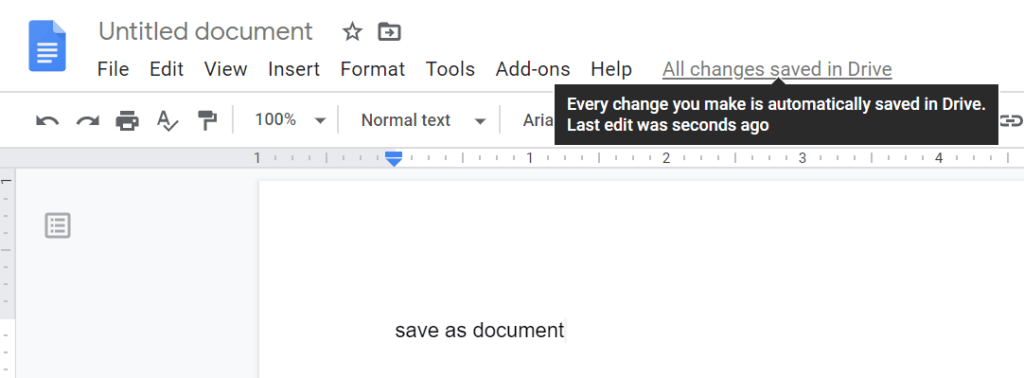 does google docs save automatically