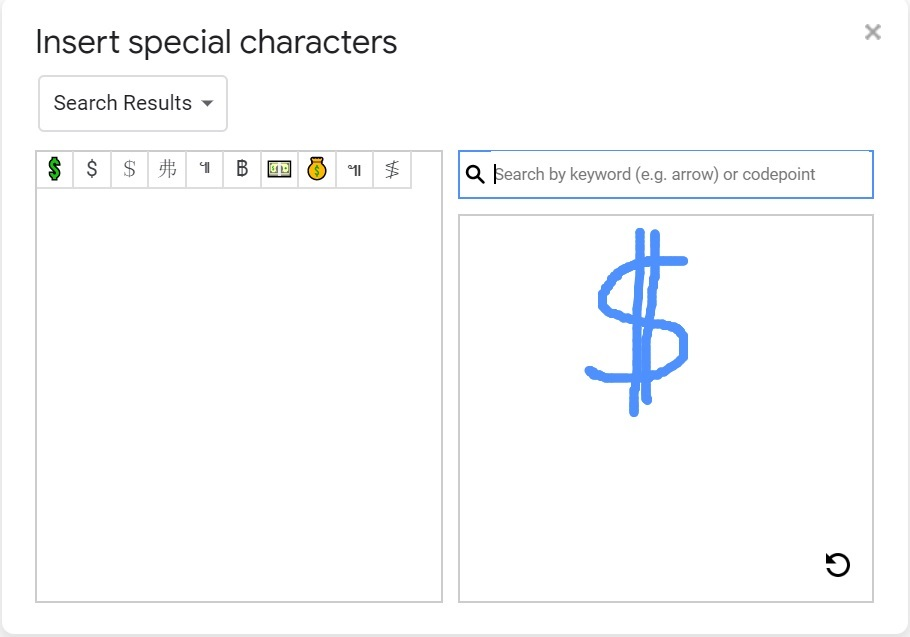 insert special characters in google docs 2