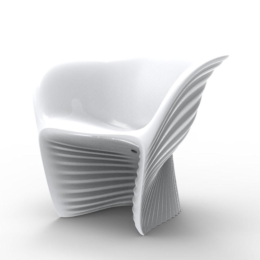 biophilia fauteuil blanc laque