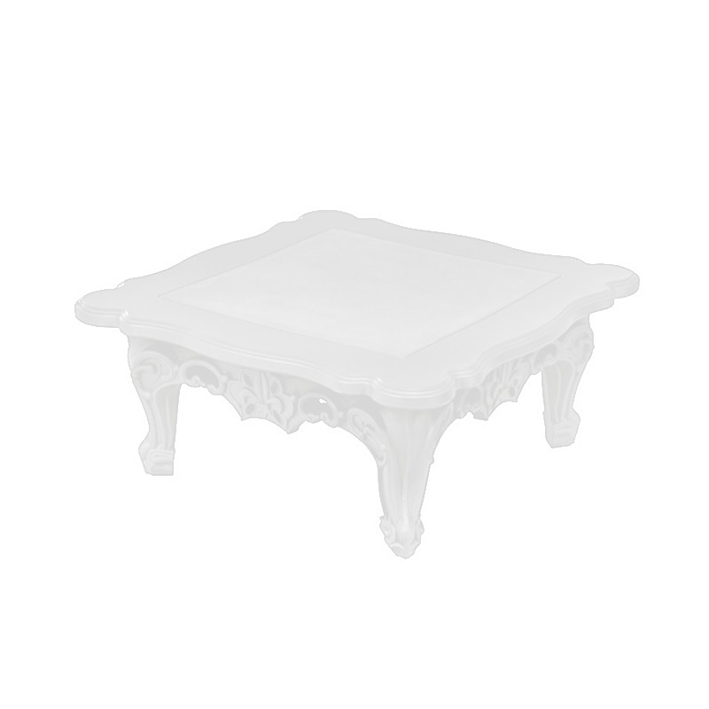 duke of love table basse laquee blanc mat