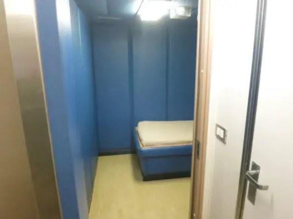 Cruise Ship Jail Bathroom door