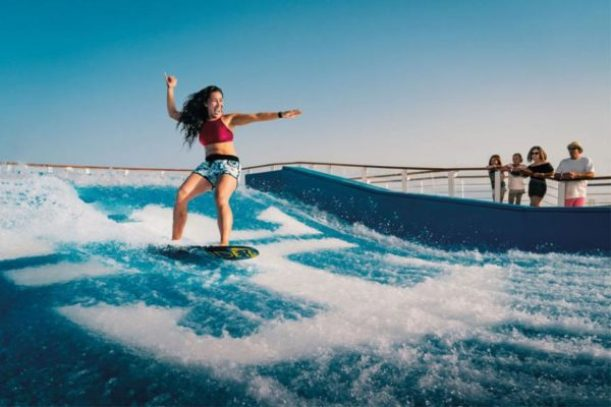 largest cruise ship flowrider
