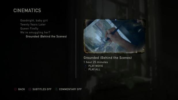 Unlockable Content UI - The Last of Us