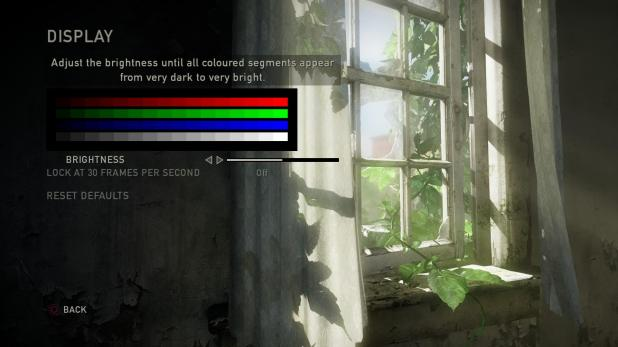 Main Menu - Last Of Us - Options - Graphics