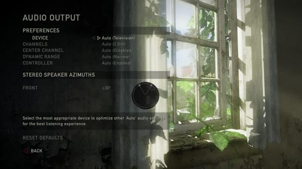 Main Menu - Last Of Us - Options - Audio - Output