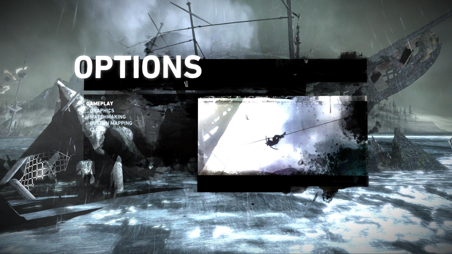 Options UI - Tomb Raider