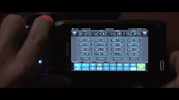 Decryption UI - Tron Legacy