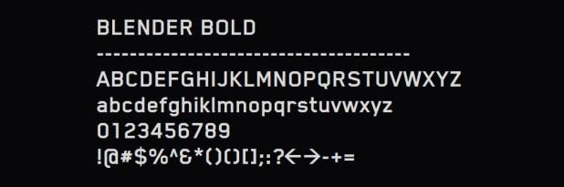 Blender Bold Font - Oblivion