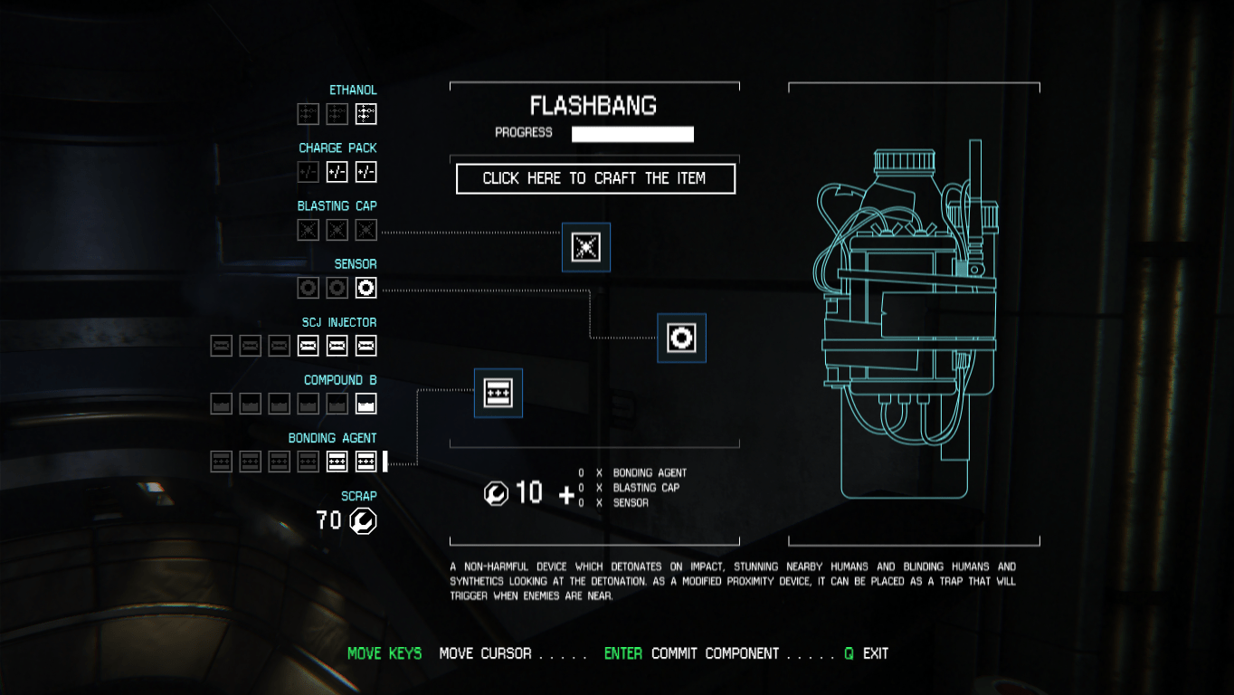 Crafting UI - Alien: Isolation