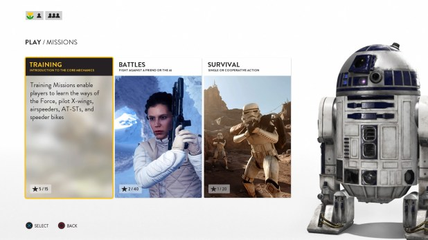Mission Select UI - Star Wars Battlefront