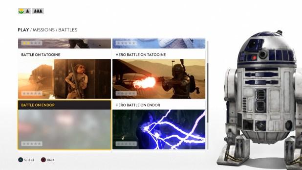 Mission Select UI - Star Wars Battlefront