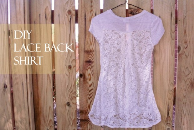 DIY Lace Back Shirt