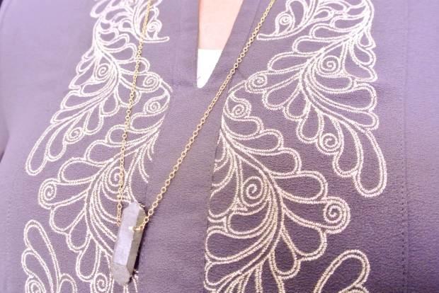 Eden Pyrite Pendant Necklace