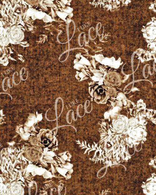 anna rust floral french terry