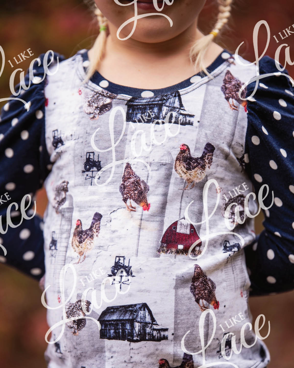 chicken cotton lycra knit fabric for kids
