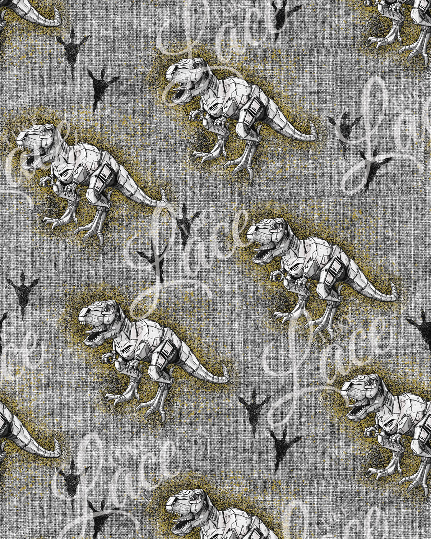 dinosaur tracks fabric