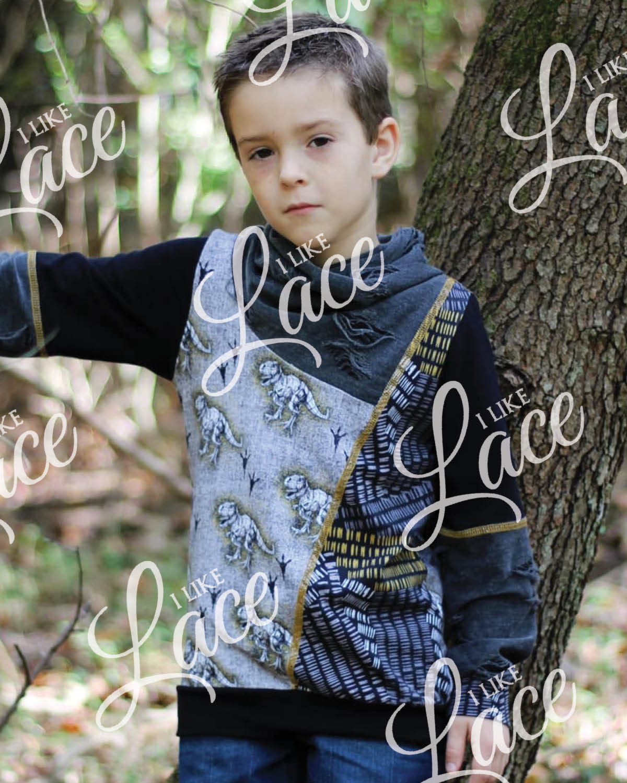 dinosaur print knit fabric for boys
