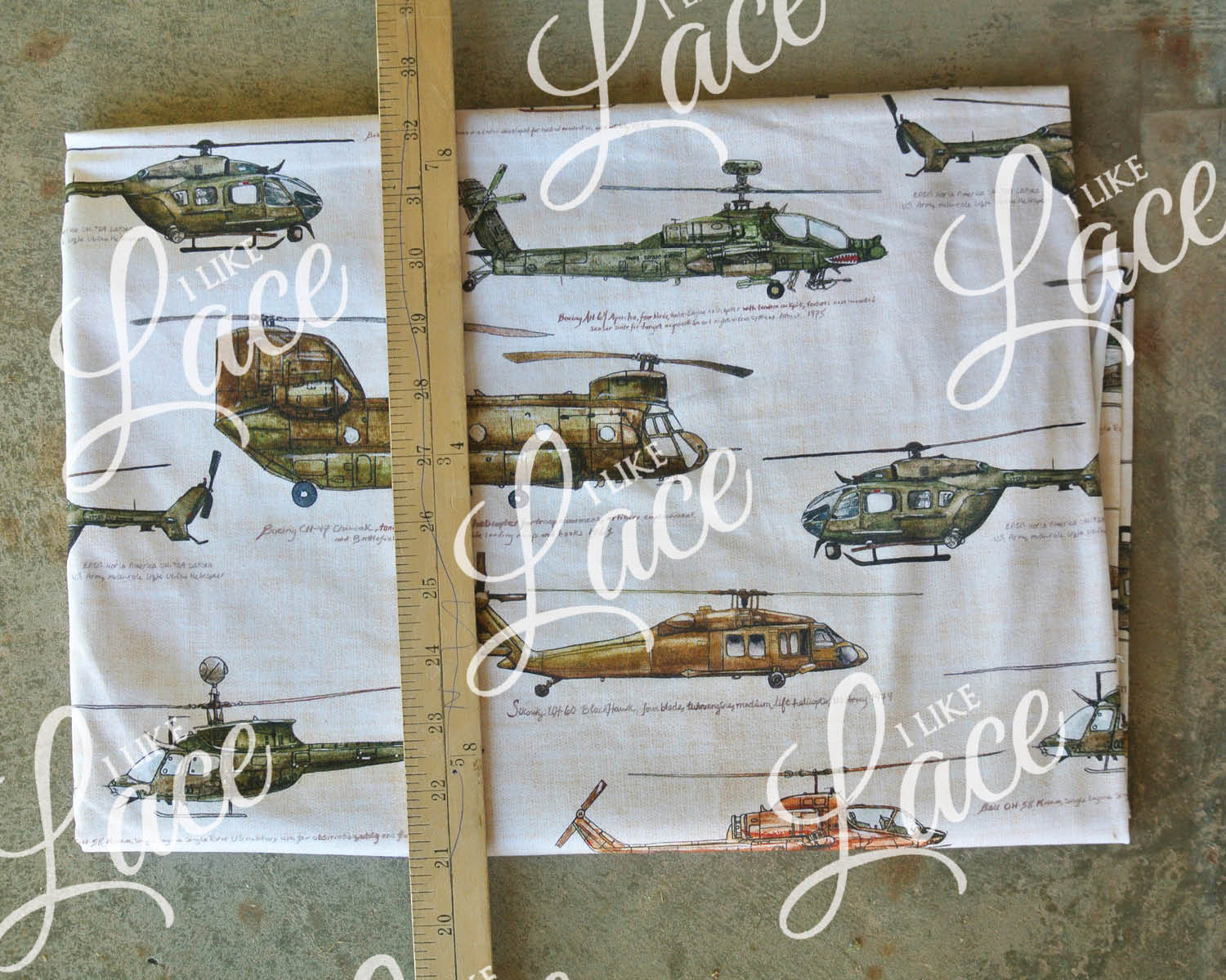 large scale helicopter print