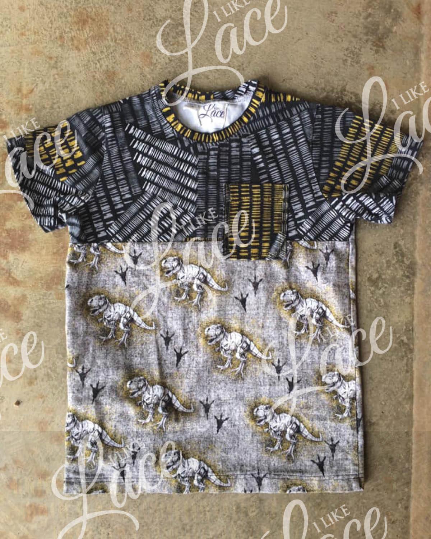 dinosaur track cotton knit fabric for boys