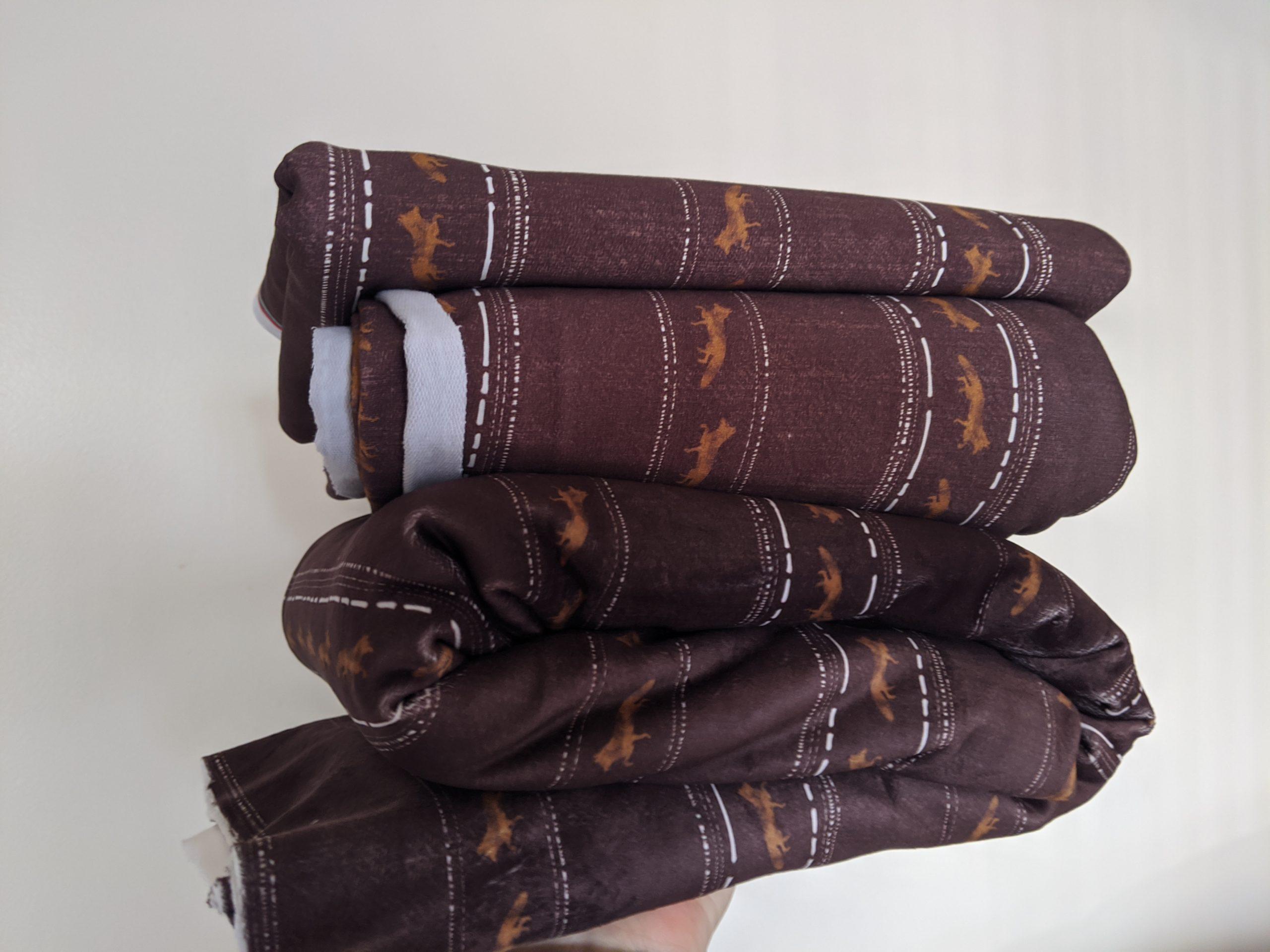 red fox stripe stretch knit fabric
