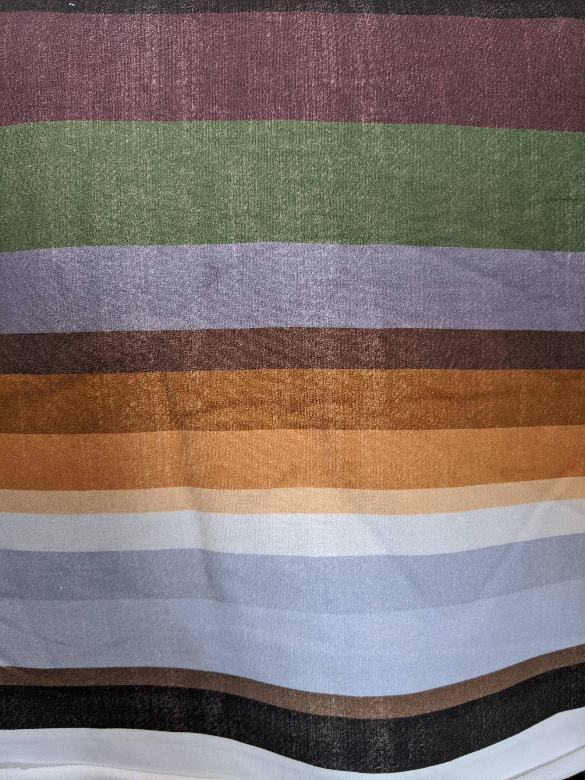 fall stripes stretch knit fabric