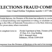 Election Fraud Complaint Filed Against Absentee Ballot Broker