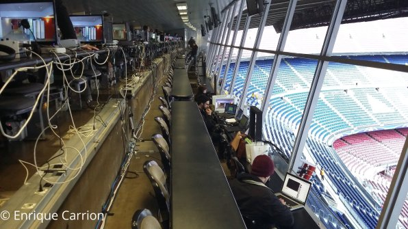 View inside press box