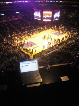 View from my desk at Staples Center