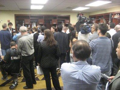 Lakers' locker room