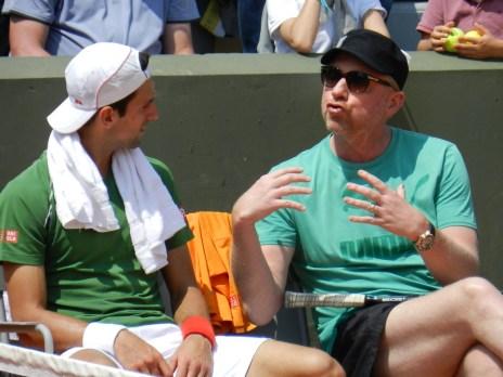 Djokovic and coach Boris Becker