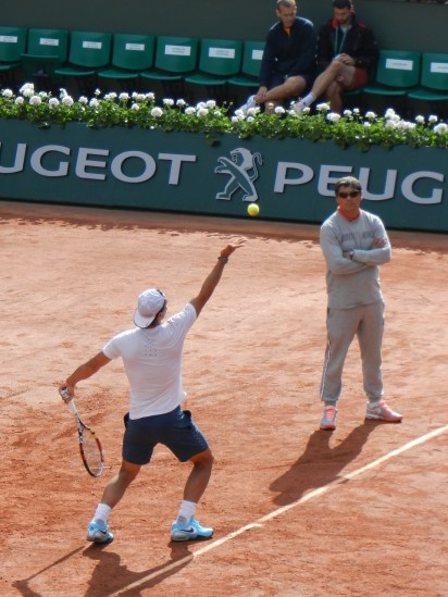 "Nadal and coach ""Uncle Toni"""