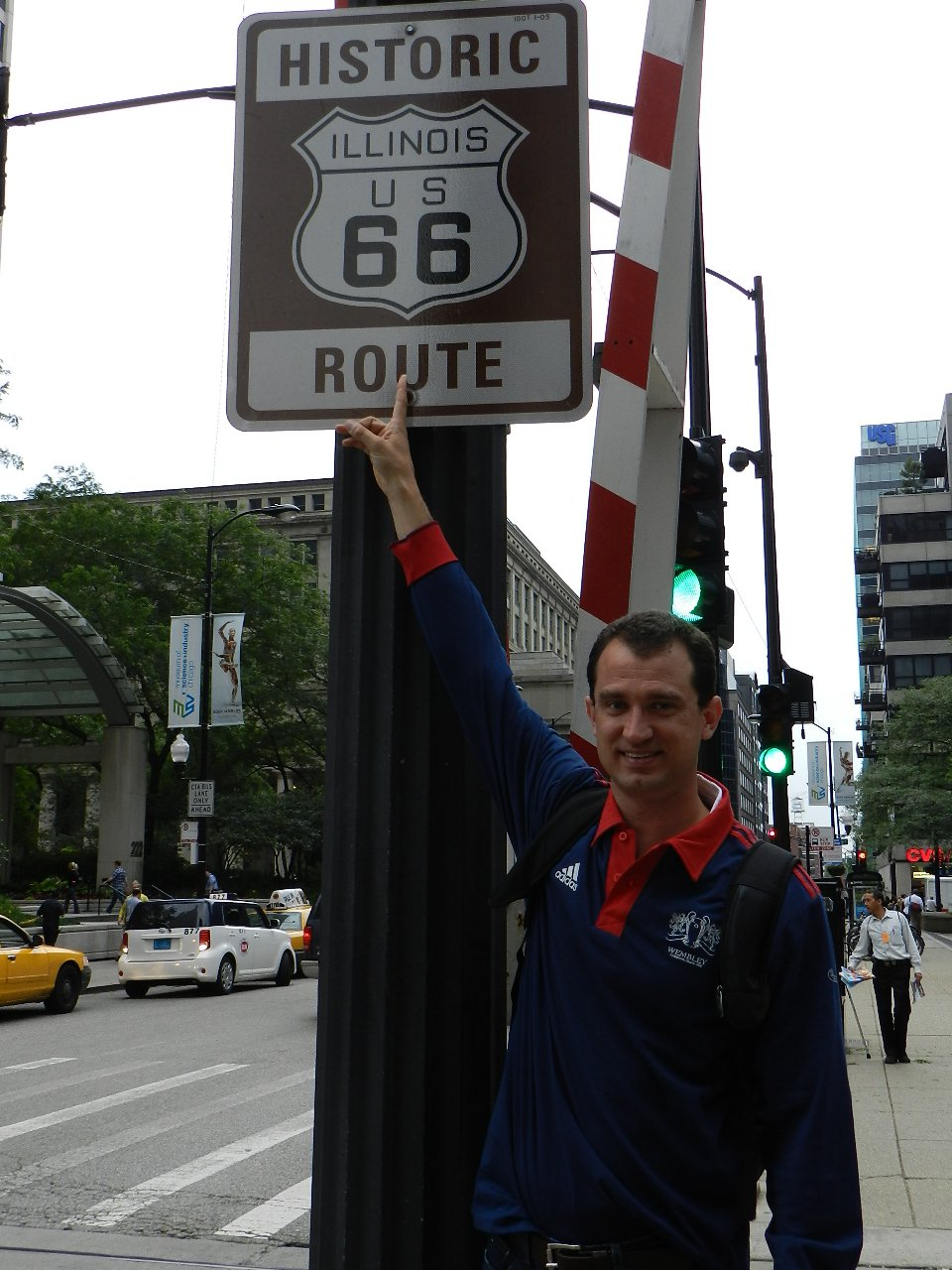 Start of Route 66 in Chicago