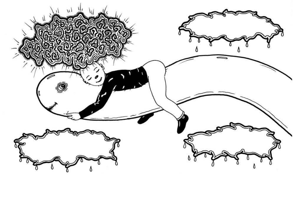 dibujo de la serie de El Rojas de Marcelo Pombo