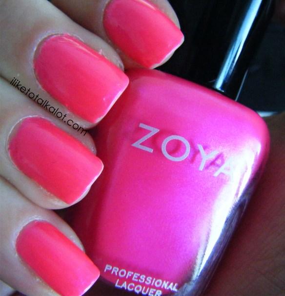 zoya lola color swatch fingers
